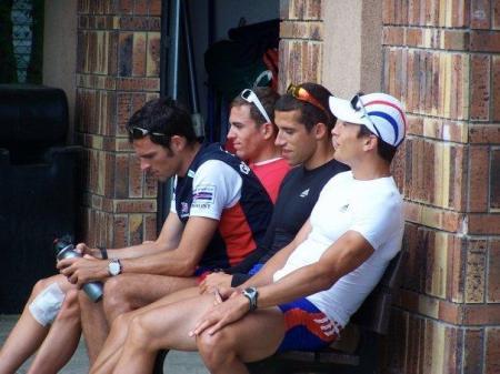 Le quatre de couple PL français avant de partir (crédit photo : Marion Leicher)